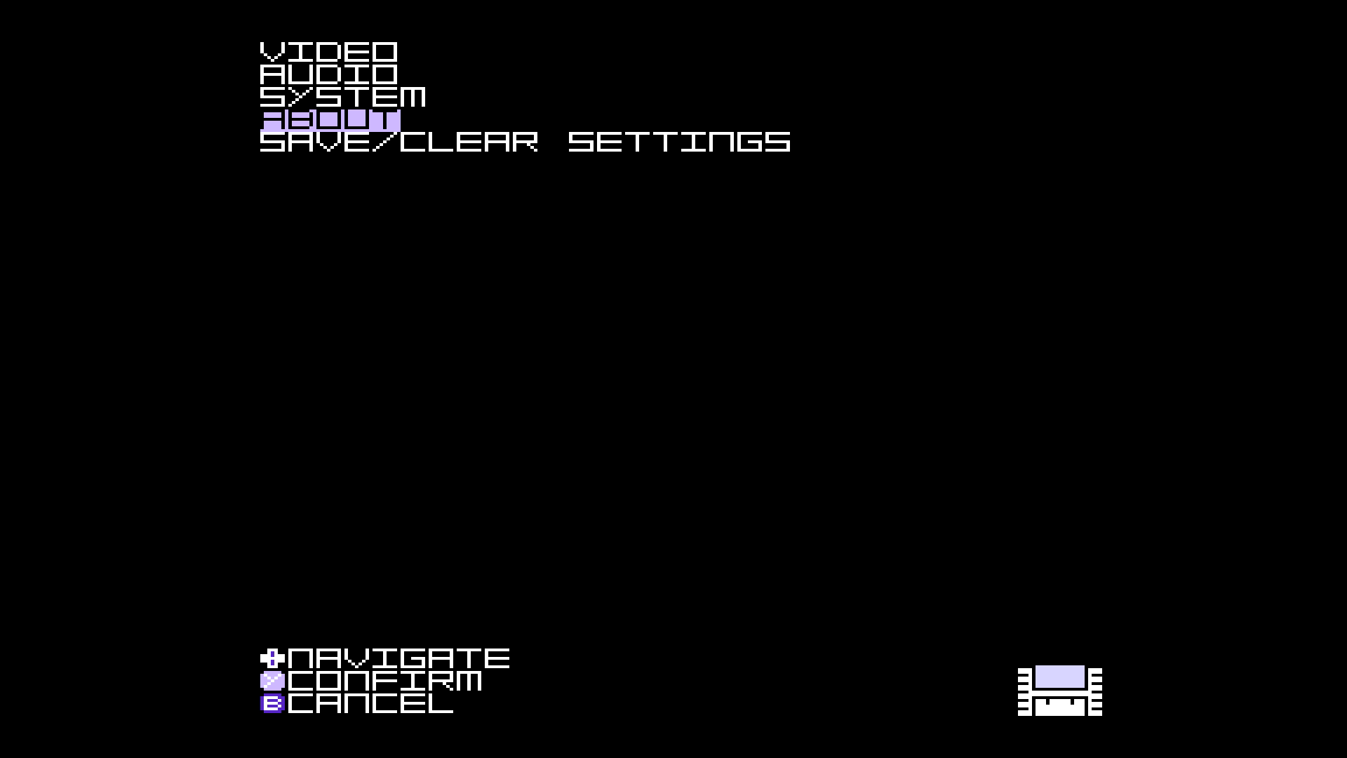 A screenshot of the Super Nt Settings Menu with the About option highlighted.