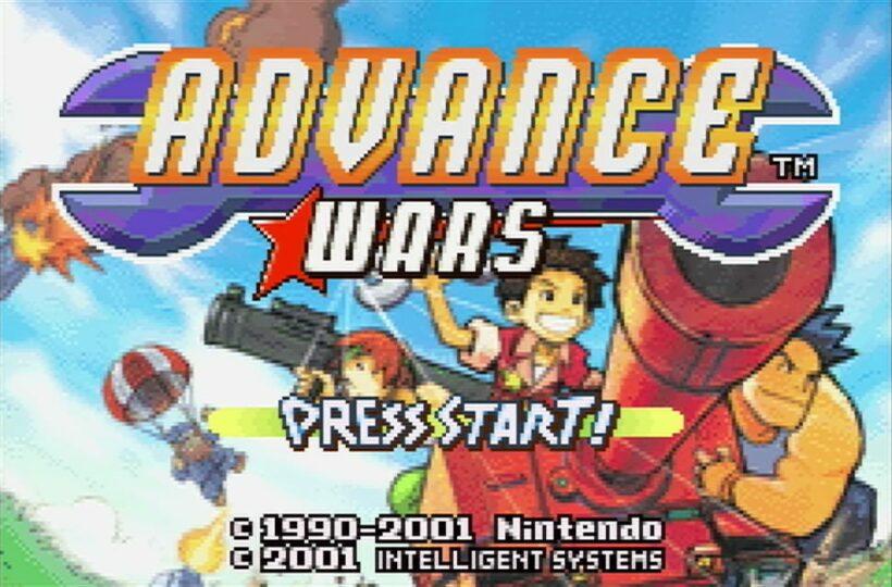 Advance Wars Game Boy Advance menu screen