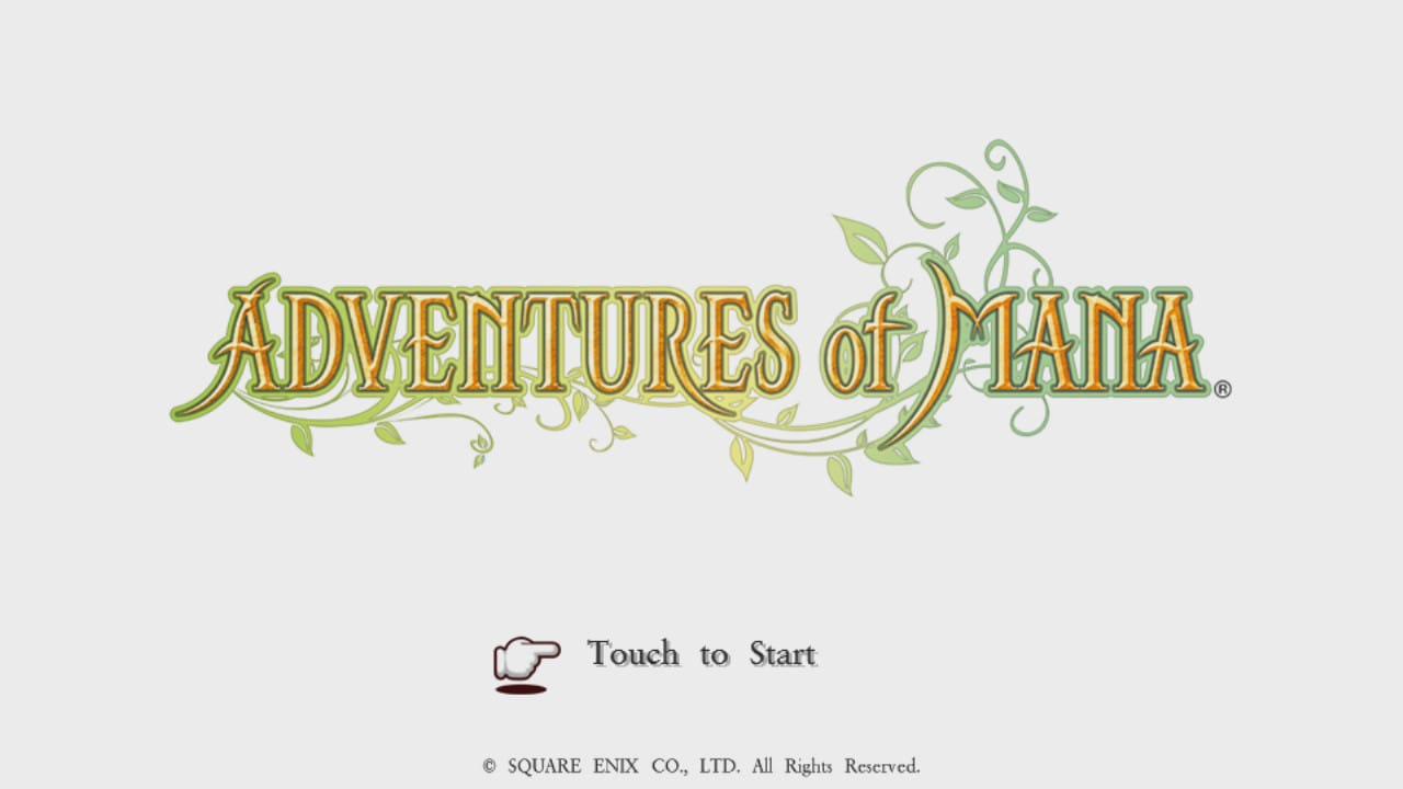 Adventures of Mana menu screenshot from PS Vita.